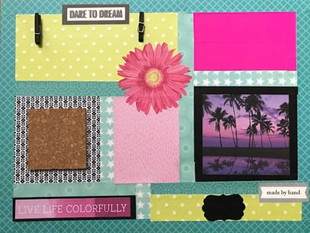 Memo Board with Dry Erase Tape