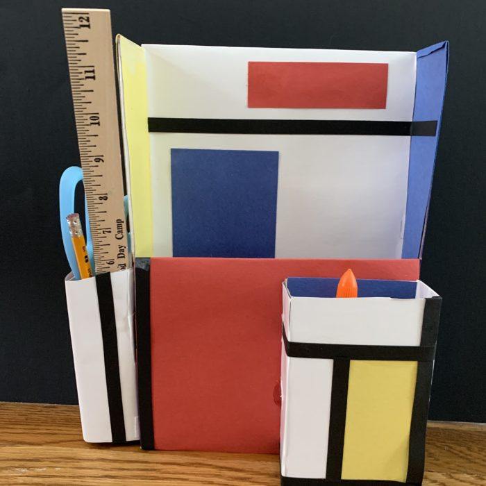 Mondrian Inspired Desk Organizer Video
